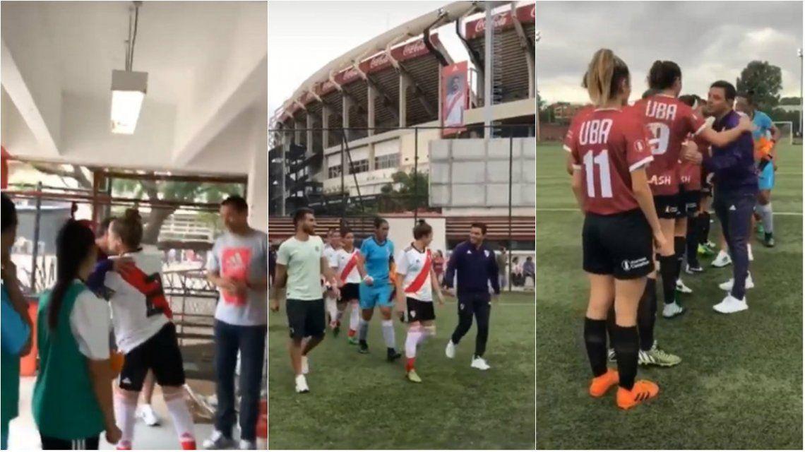 VIDEO: El gesto de Gallardo con las chicas de River en un día importante para el fútbol femenino