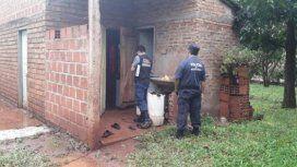 La vivienda de Cintia, donde se produjo el asesinato (foto: Policía de Misiones)