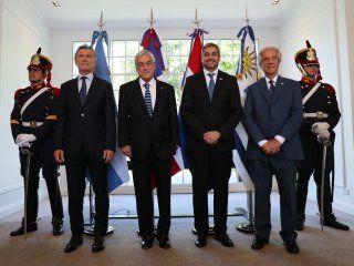 Mauricio Macri, Sebastián Piñera, Mario Abdo y Tabaré Vázquez