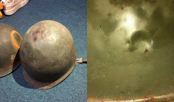 El casco le pertenece a un soldado nacido en 1962 llamado Alfredo Raúl Cruz<br>