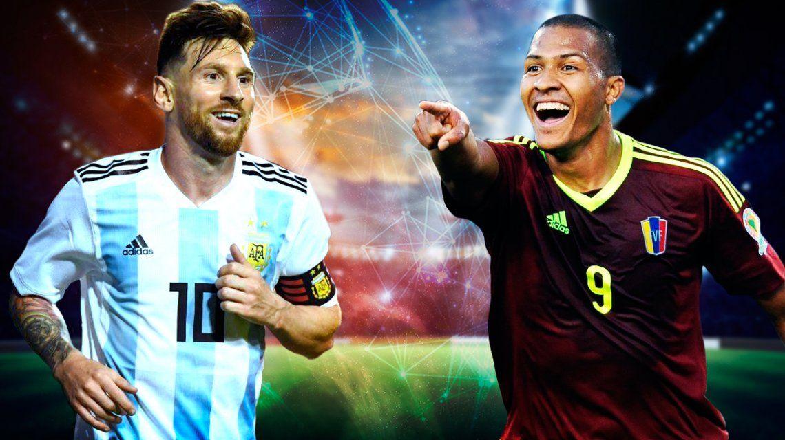 Argentina vs Venezuela: horario, formaciones y TV