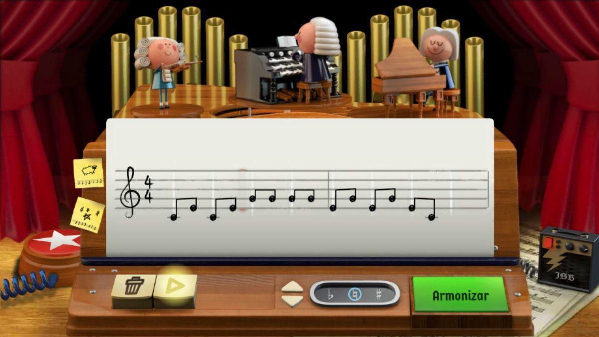 Adiós productividad: el doodle de Google para crear música como Bach