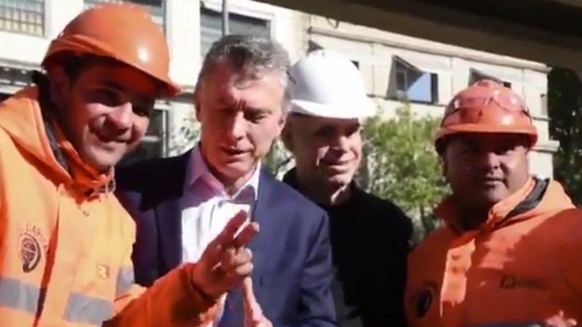 Otra vez, un obrero le hizo pasar un incómodo momento a Macri