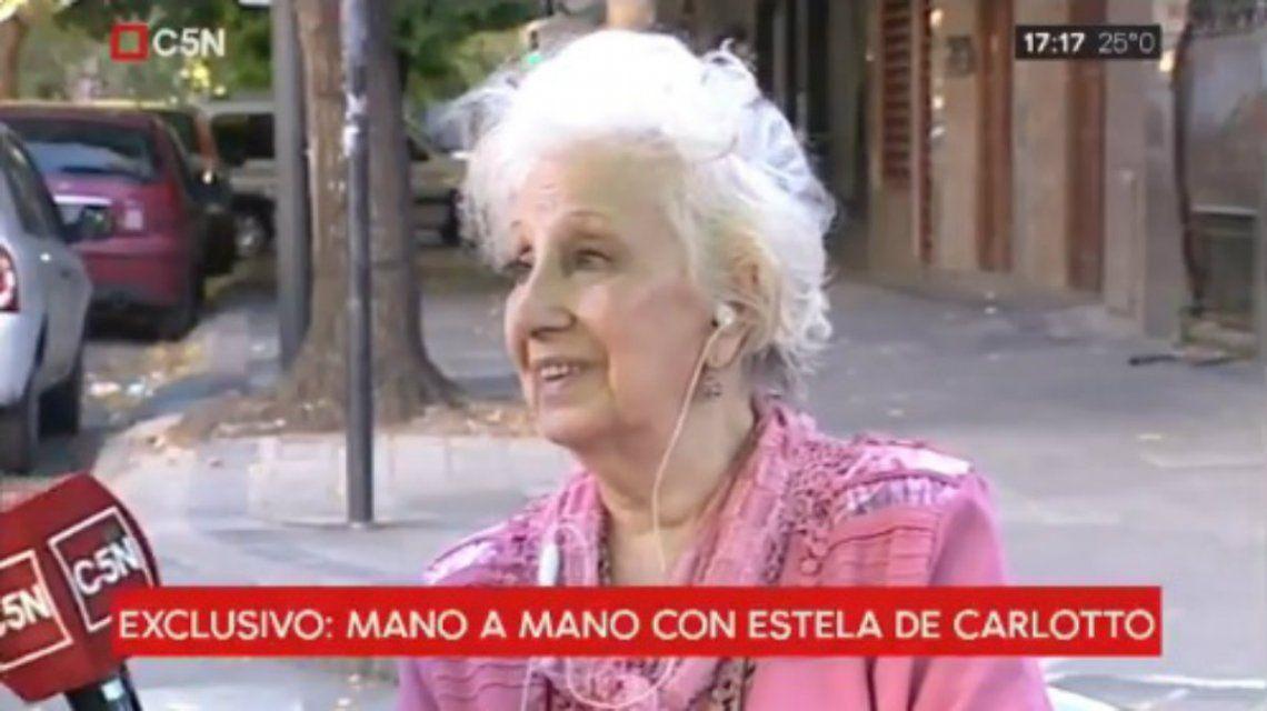 Estela de Carlotto: Están tratando de minimizar y de que olvidemos a toda costa