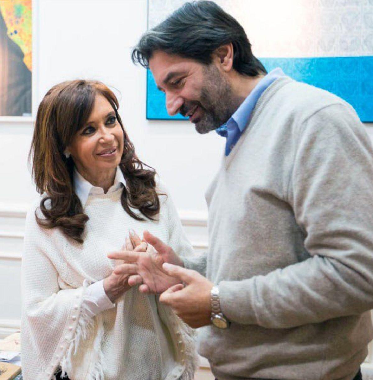 Pablo Carro con la ex presidenta Cristina Kirchner