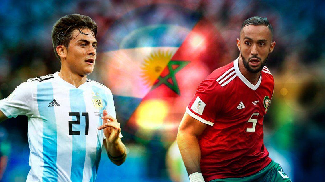 Marruecos vs Argentina: horario, formaciones y TV