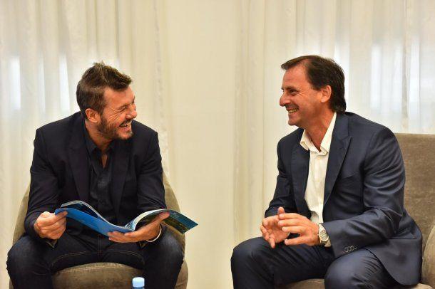 Ariel Sujarchuk con Marcelo Tinelli