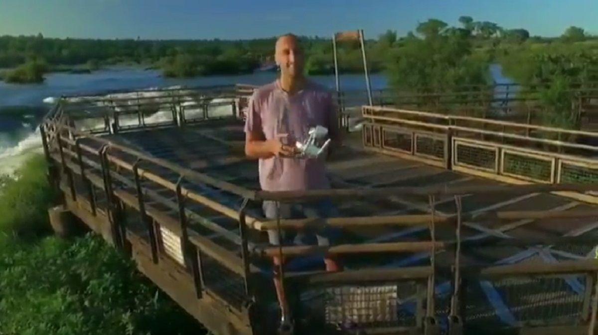 Manu Ginóbili grabó un video de las Cataratas del Iguazú