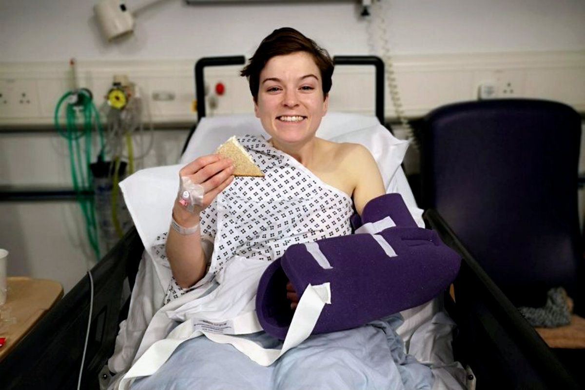 Becky se recuperó pero tuvieron que hacerle un injerto de piel