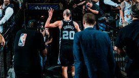 Una leyenda: los Spurs retiran la camiseta número 20 de Manu