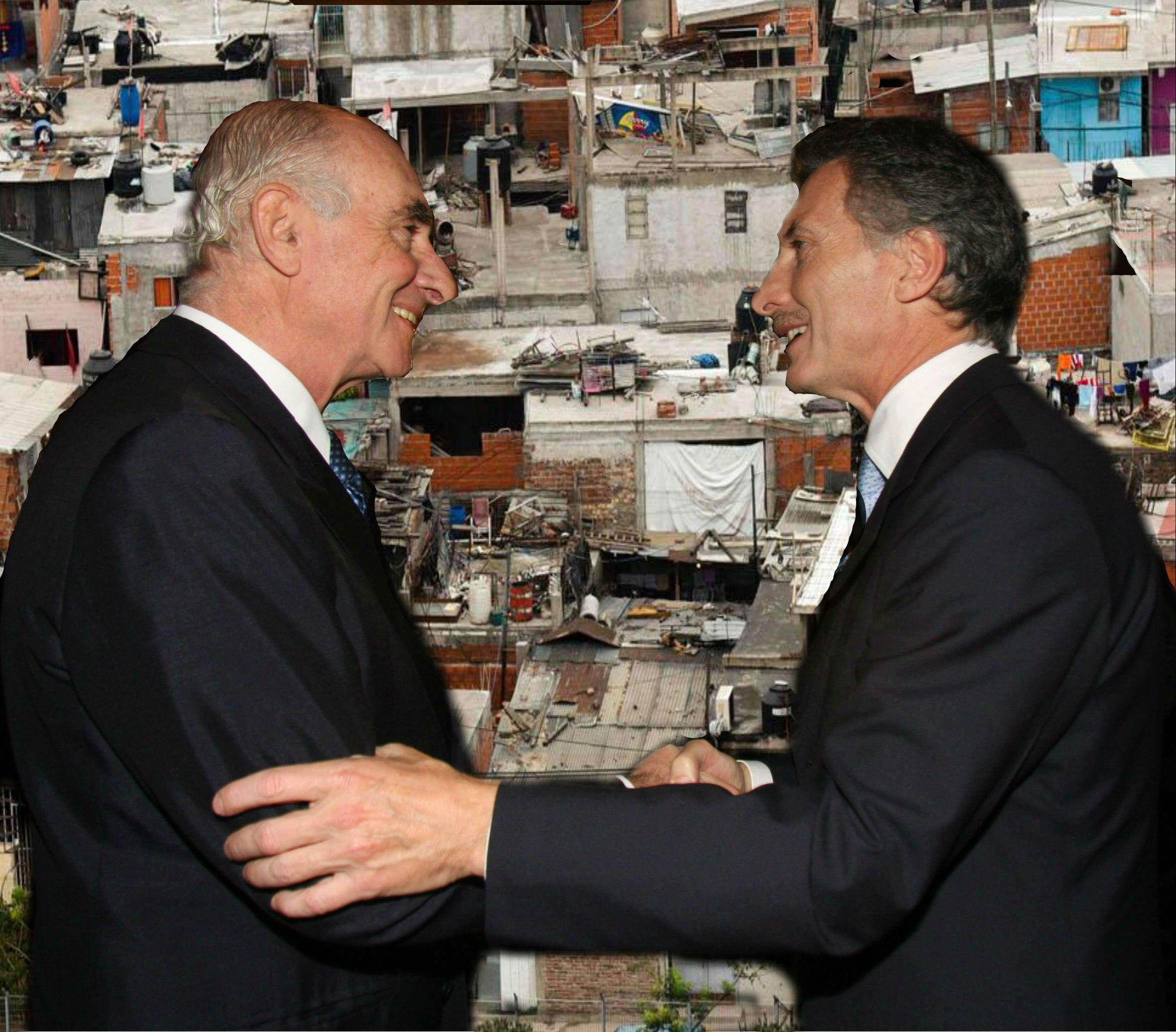 Fernando De La Rúa y Mauricio Macri