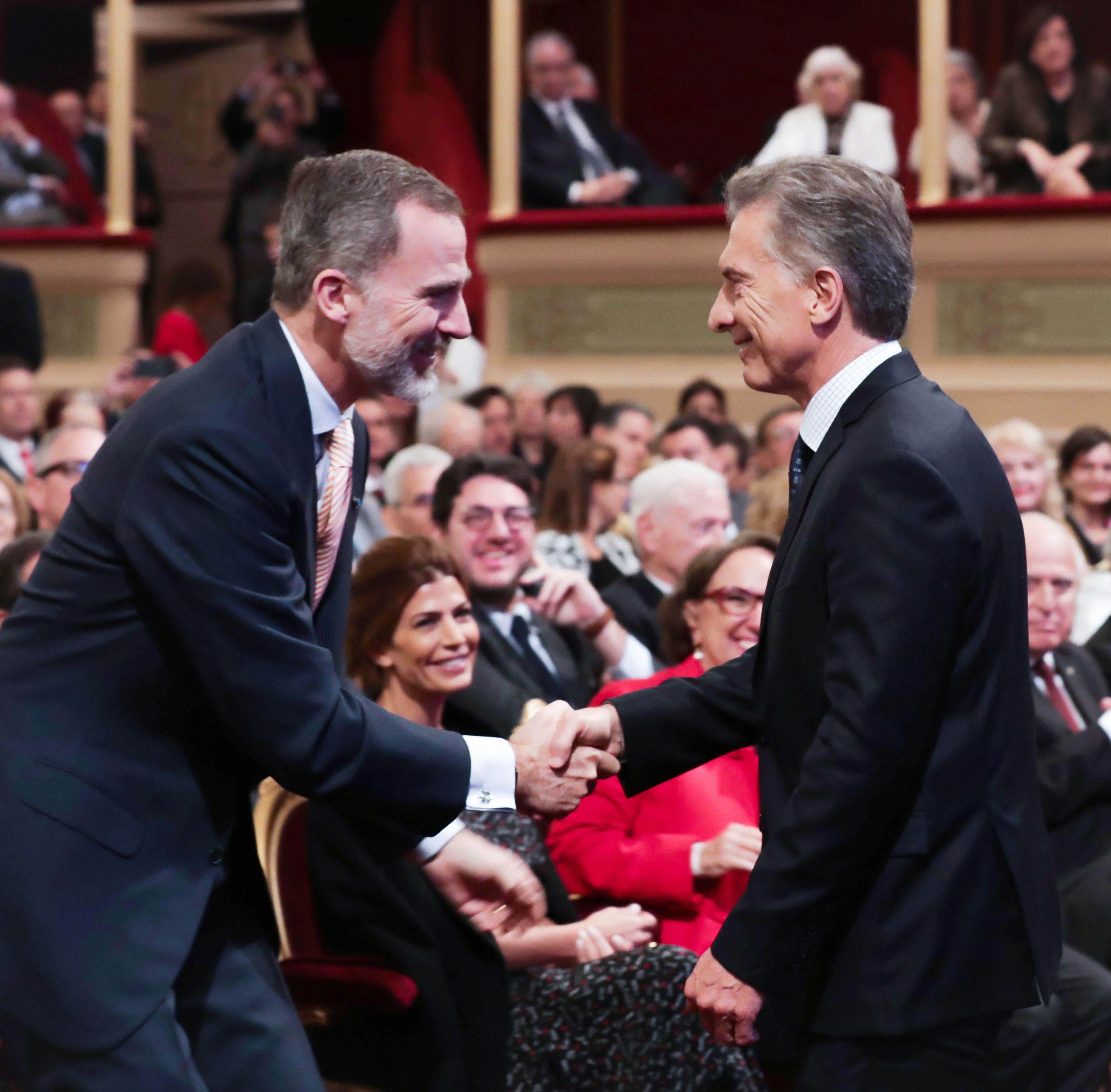 Felipe VI y Mauricio Macri