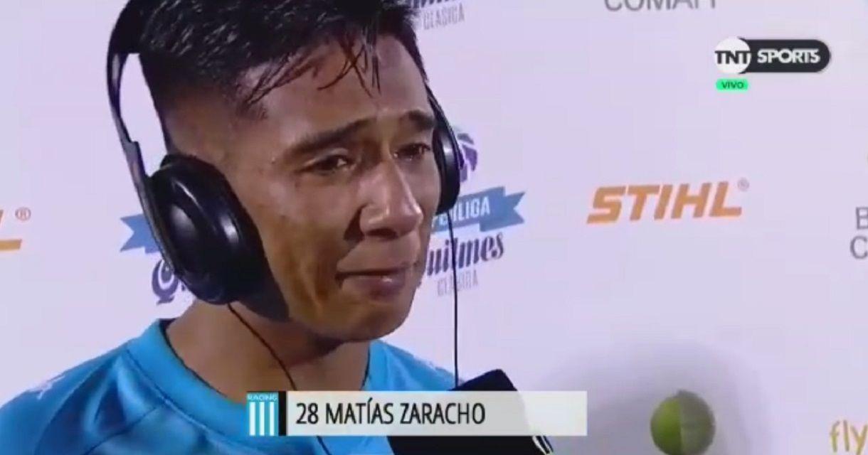 VIDEO: El llanto de Zaracho luego de consagrarse campeón con Racing