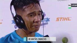 La emoción de Racing campeón: el llanto de Zaracho