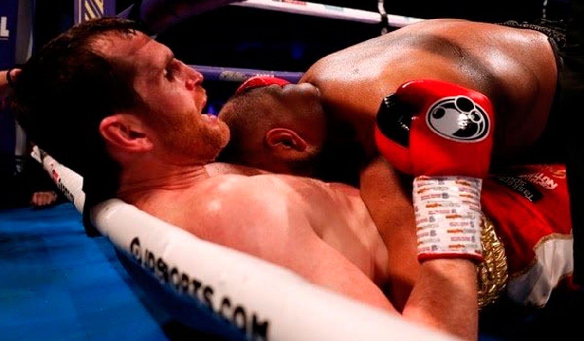 Boxeo: mordisco, tackle y suspensión en la pelea entre David Price y Kash Ali
