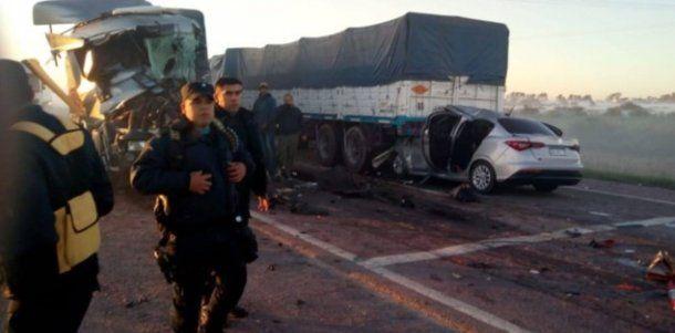 Choque en cadena y tragedia en Santiago del Estero. Foto: Cadena 3