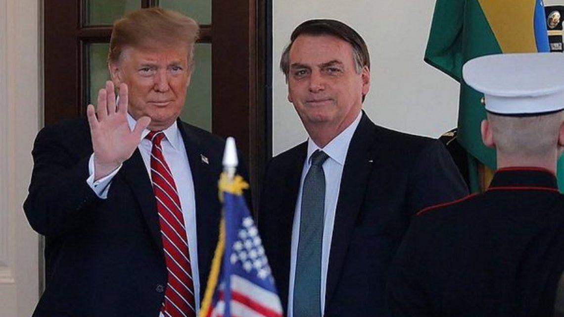 Jair Bolsonaro y Donald Trump se reunieron en marzo enWashington.