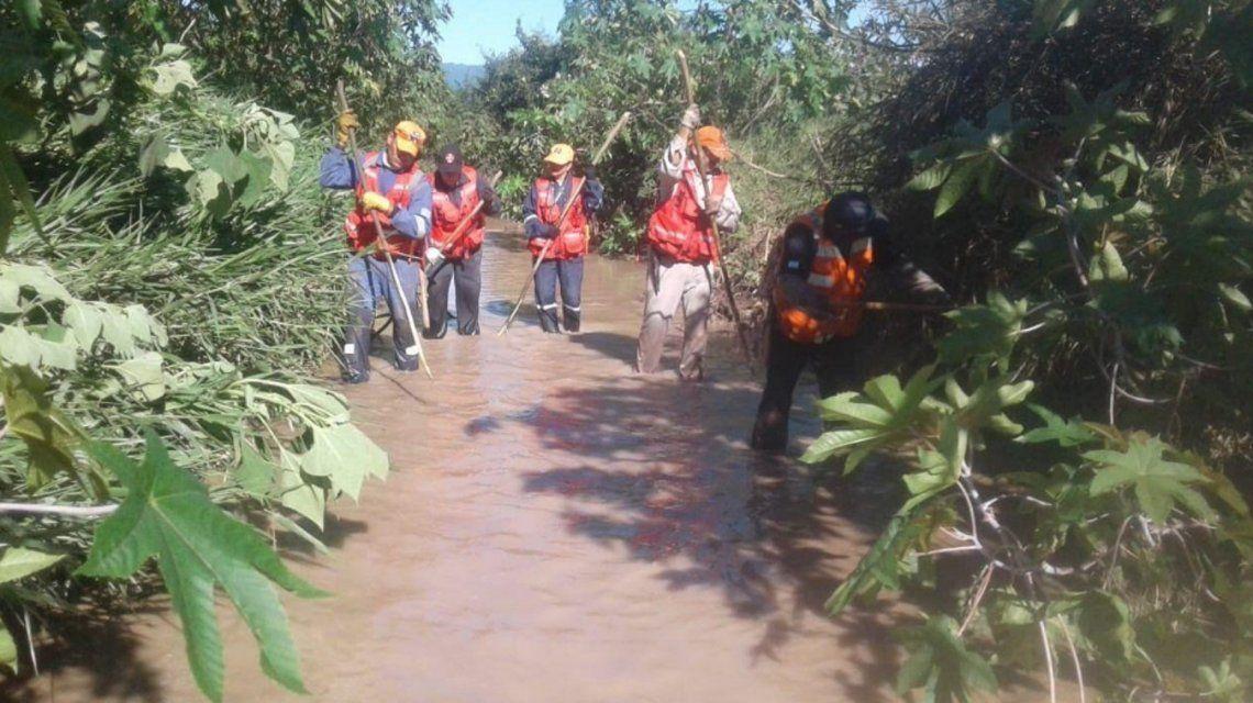 María Machuca fue rrastrada el jueves pasado por un desagüe pluvial. Foto: El Tribuno