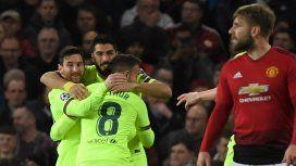Barcelona y Messi le ganaron por primera vez a United en Old Trafford