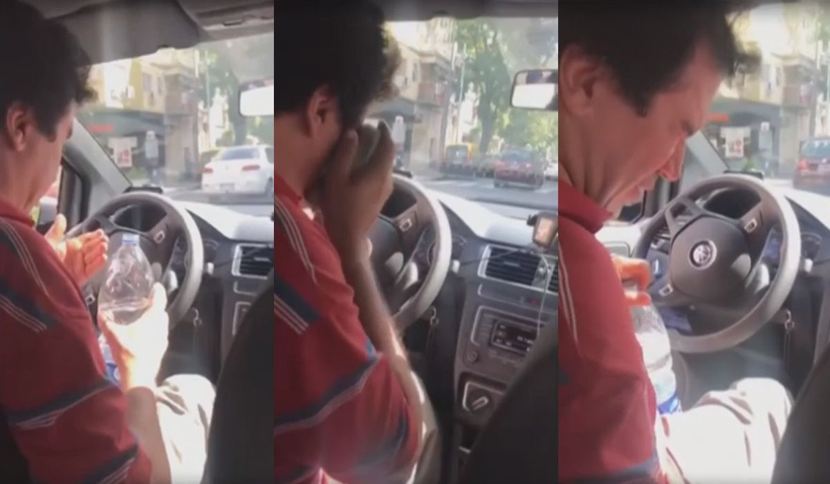 Un taxista discutió con otro conductor y terminó con gas pimienta en los ojos