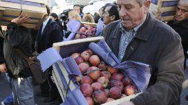 Frutazo en Plaza de Mayo