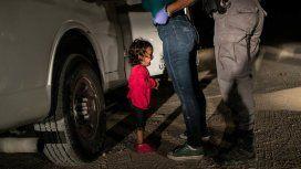 Niña llorando en la frontera,World Press Photo 2019 - Crédito: JOHN MOORE