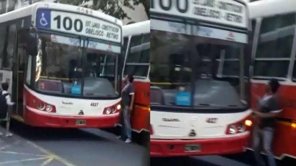 El conductor de un micro escolar atacó con un palo al chofer de un colectivo