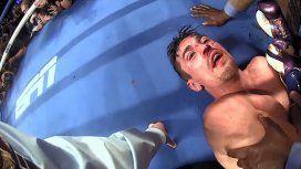 Escalofriante: un golpe en la sien y un KO en primera persona