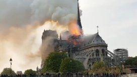 Conmoción en París: se incendia la mítica catedral de Notre Dame