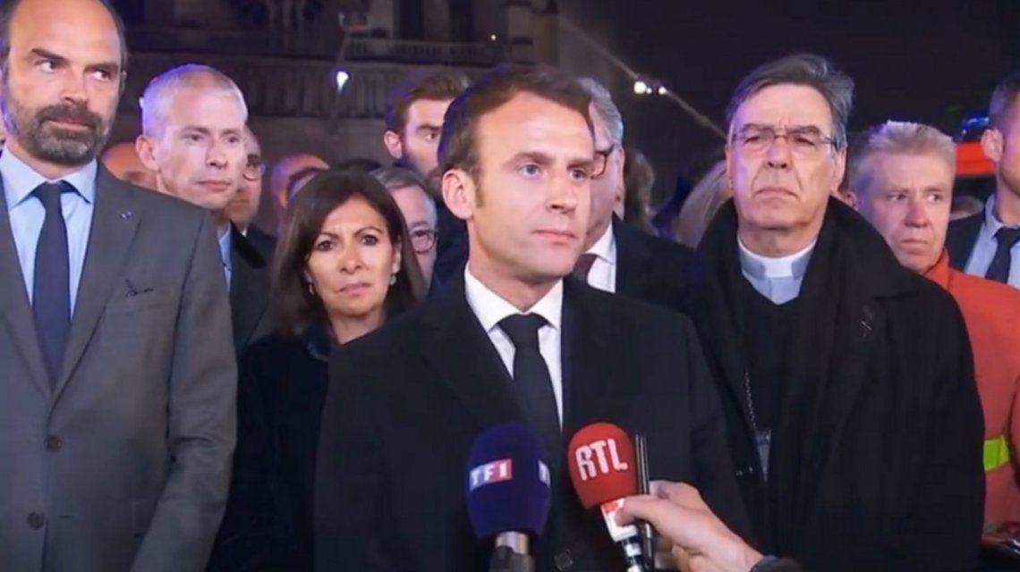 Macron: Vamos a volver a construir Notre Dame