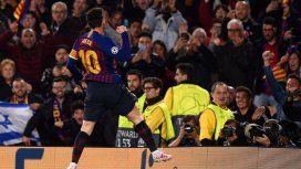 Messi rompió el maleficio de cuartos y Barcelona goleó a Manchester United