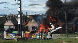 Una avioneta se estrelló contra una casa en Chile: hubo seis muertos