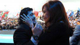 Diego Armando Maradona y Cristina Kirchner