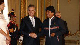 Con eje en la importación de gas, Macri recibe a Evo Morales en la Casa Rosada