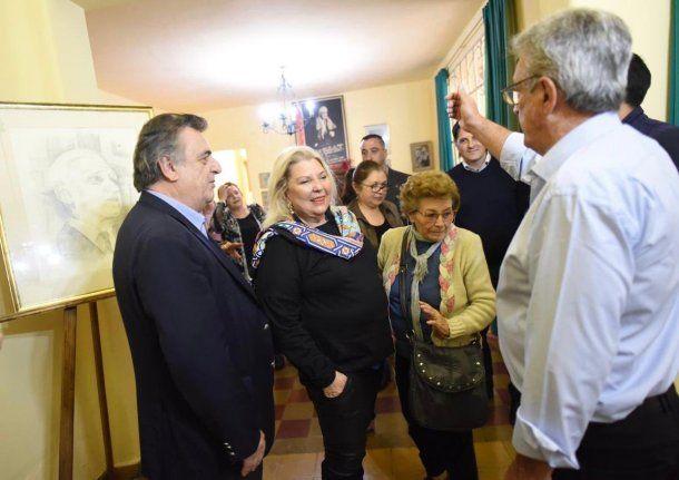 Elisa Carrió estuvo con Mario Negri en Cruz del Eje<br>
