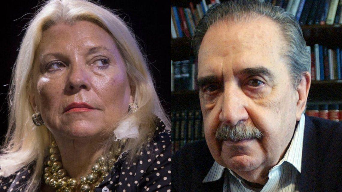 Carrió quiso homenajear a Alfonsín y le recordaron con un audio lo que él decía de ella: Es una hipócrita