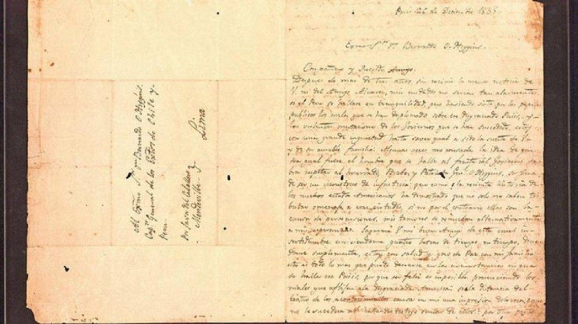 Cristina reveló cómo llegó a sus manos la carta original de San Martín a OHiggins