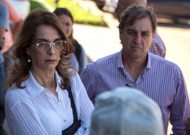 Precandidata a gobernadora por el PJ María Eugenia Bielsa<br>