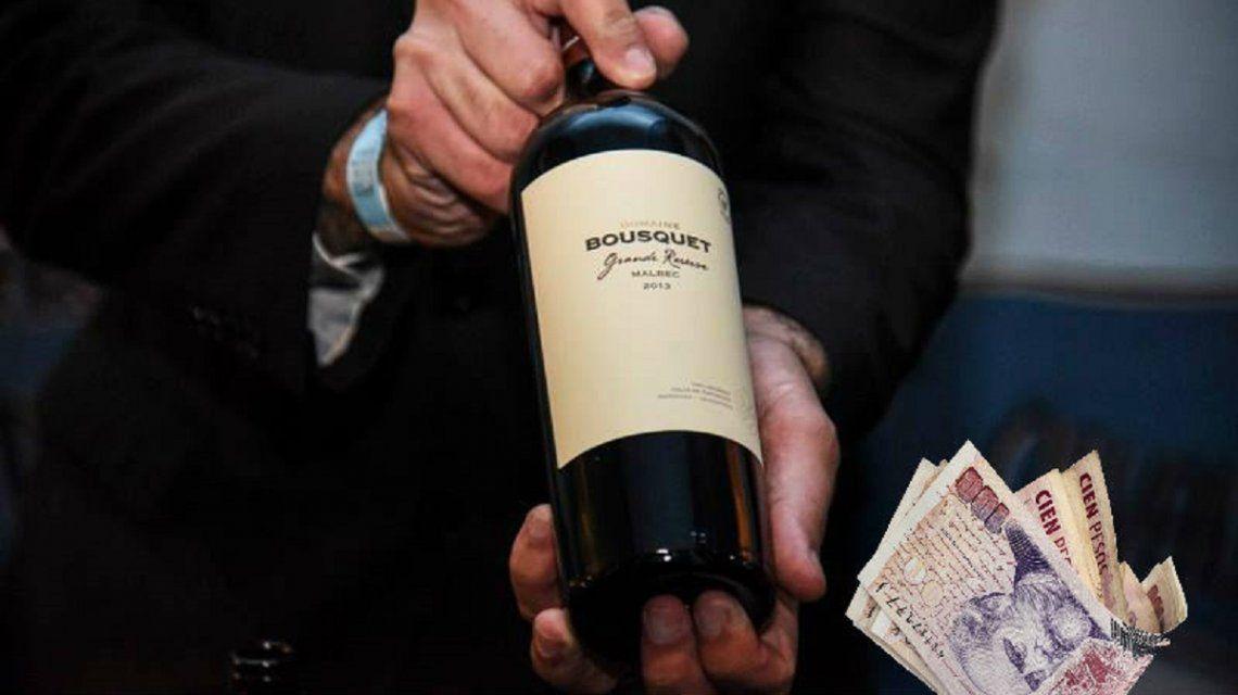 Una botella de buen vino orgánico cuesta unos $300