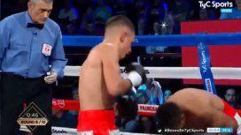 Boxeo: el KO de Agustín Gauto al salteño Liendro