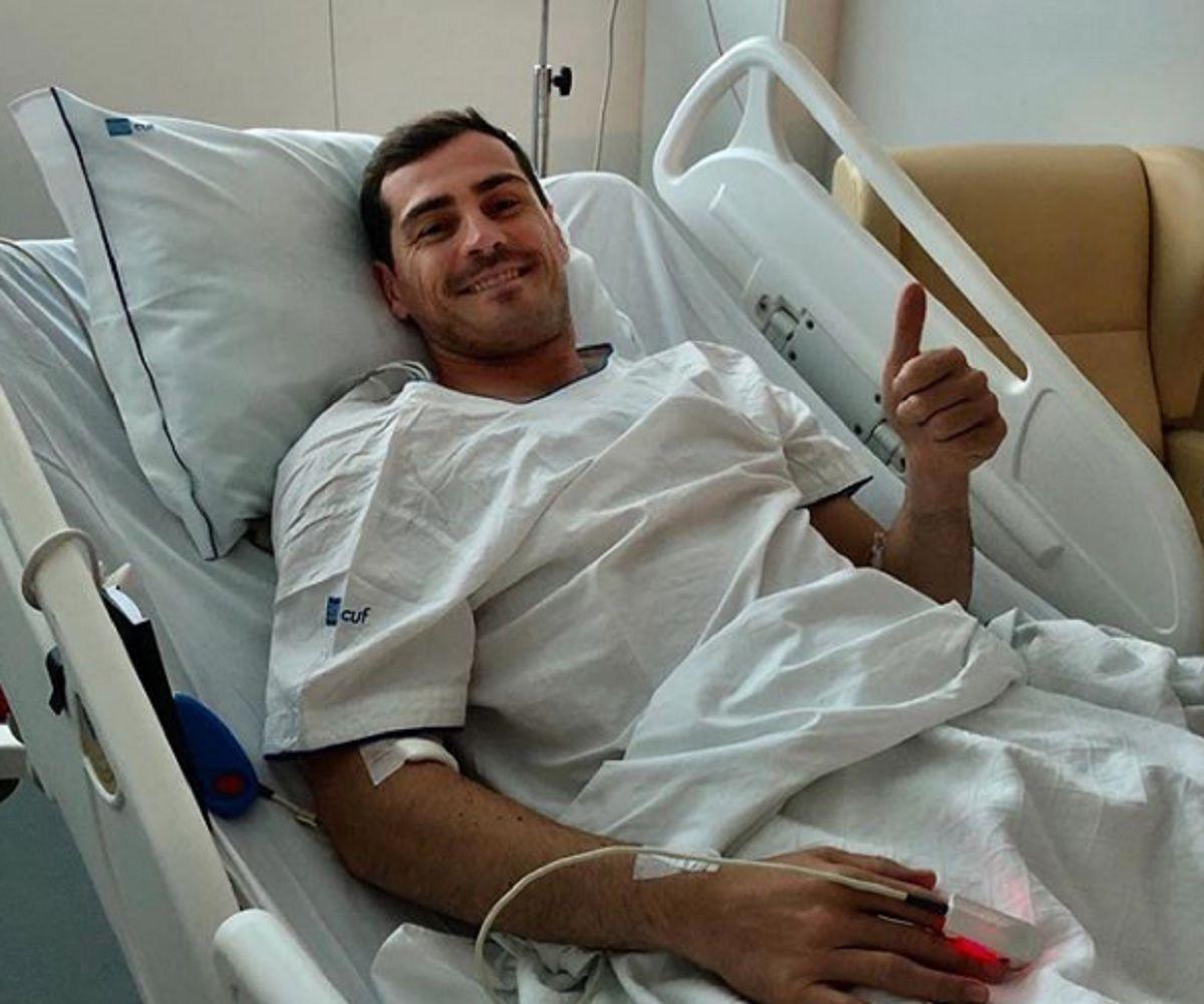Iker Casillas recibiría este lunes el alta médica