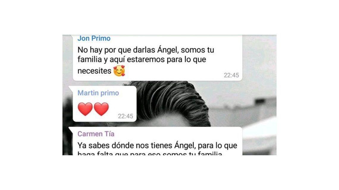 Angela ahora es Ángel y ésta fue la reacción de su familia por WhatsApp