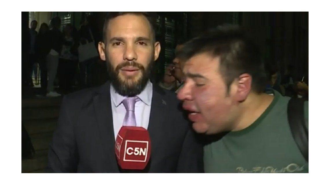 Nicolás Munafó y el joven que gritó Macri gato