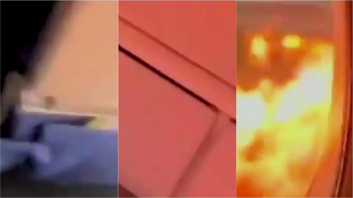VIDEO: Así se vivió por dentro el fatal incendio del avión en Rusia