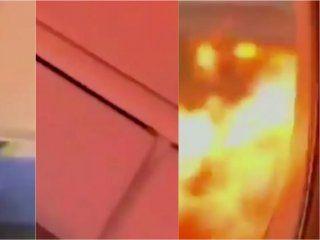 video: asi se vivio por dentro el fatal incendio del avion en rusia