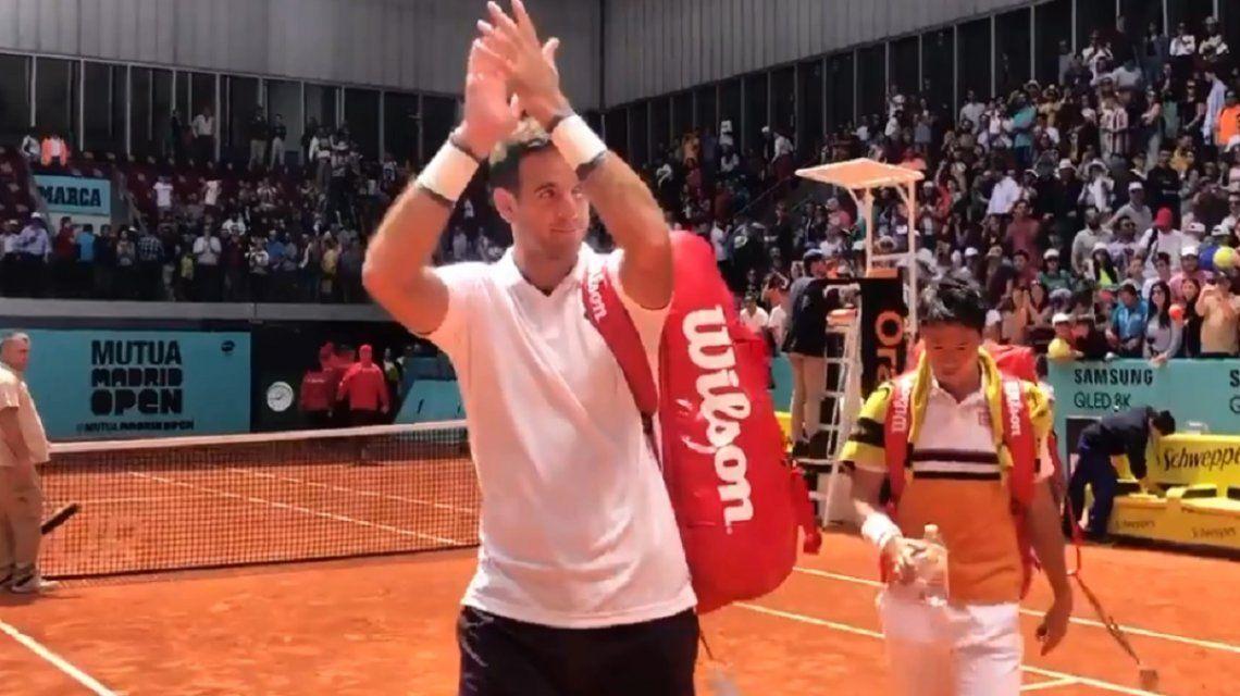 Del Potro volvió a jugar con un triunfo en dobles en Madrid