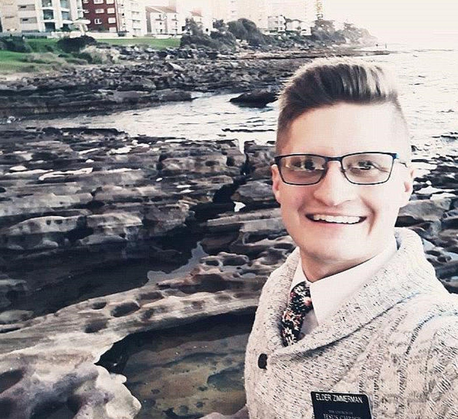 Gavin Zimmerman muriótras caer a un acantilado mientras se hacía una selfie. Foto: Daily Mail.
