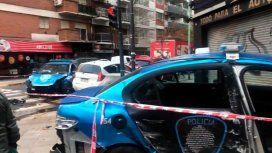 Un fuerte choque entre dos patrulleros dejó a cuatro policías heridos