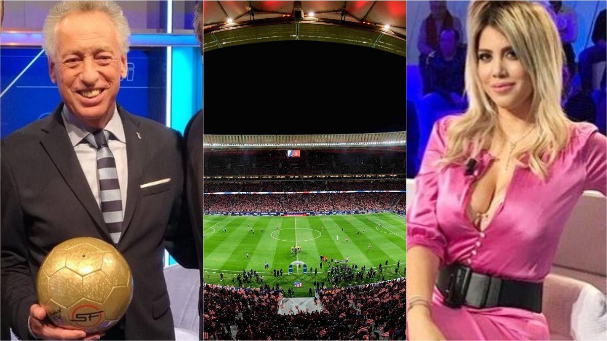 Quique Wolff confundió al estadio de Atlético Madrid con ¡Wanda Nara!