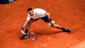 Del Potro debuta en Roland Garros frente al duro chileno Nicolás Jarry